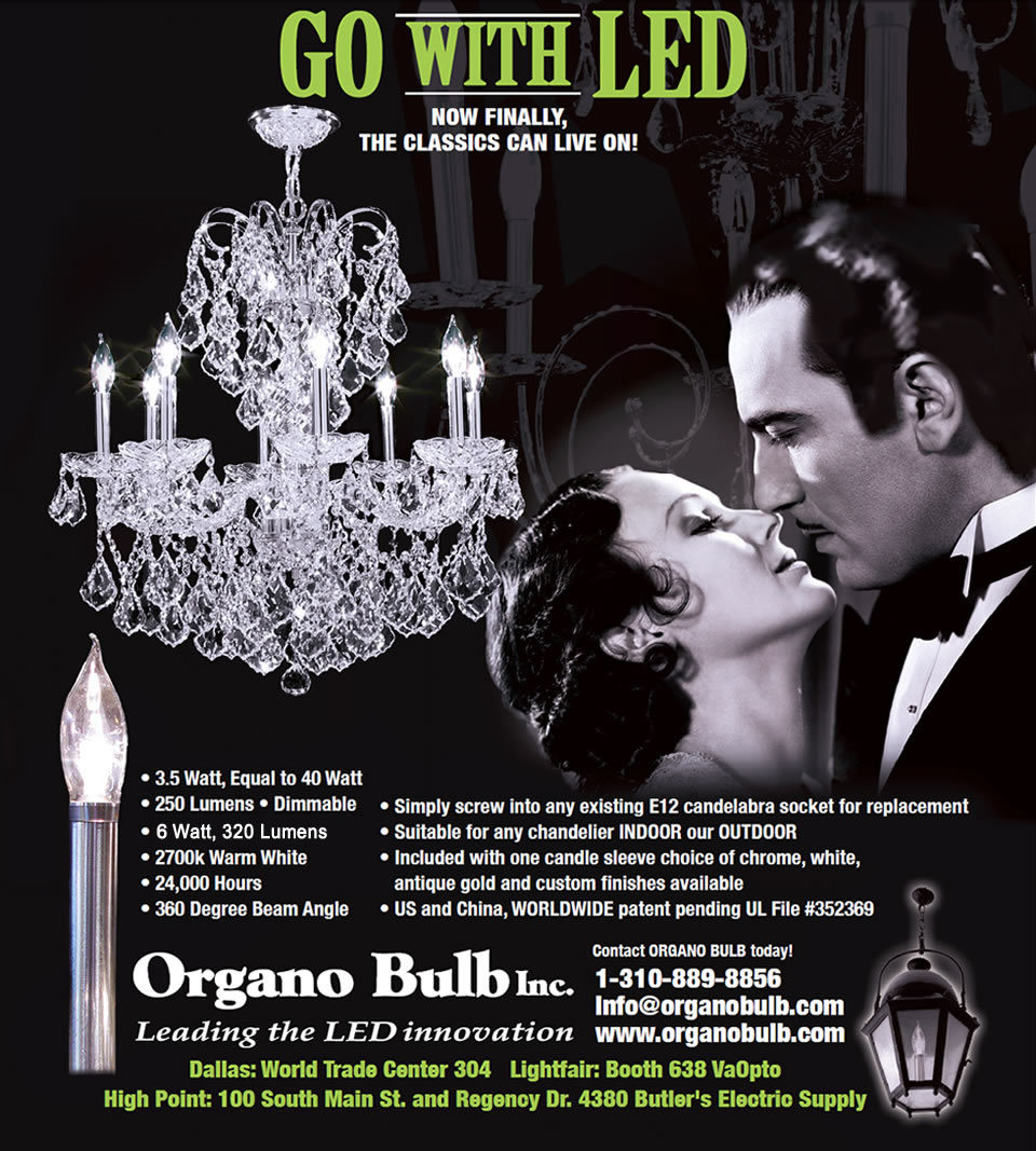 Organo Bulb - new LED bulbs for chandeliers